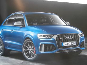 Audi RS Q3 Typ 8U +performance Buch April 2016 NEU