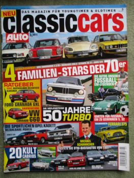 auto zeitung classiccars 3/2012 BMW 2002 turbo,Commodore 2.5GS vs. 230.4 vs. DS21 vs. BMW 520 E12,Kadett E GSi,