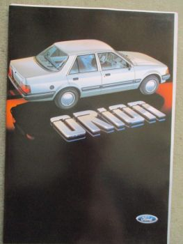 Ford Orion Prospekt GL +injection +Farbliste Dezember 1983