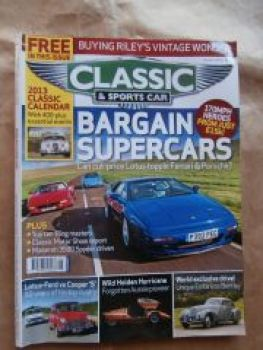 Classic & Sports Car 1/2013 Riley Nine Buyers Guide,Lotus Esprit