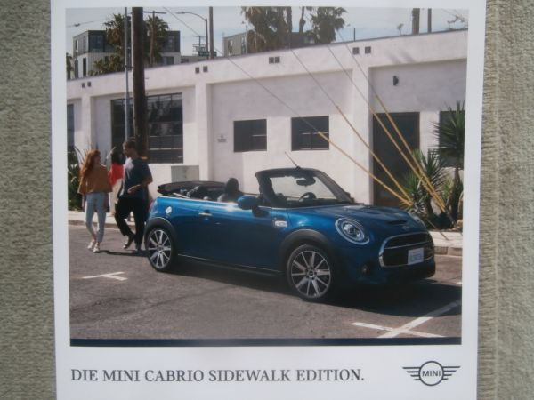 BMW Mini Cabrio F57 Sidewalk Edition One Cooper +S Januar 2020 Mappe NEU