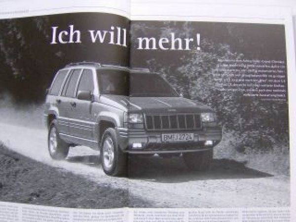Jeep Grand Cherokee Limited LX 5.9 Pressestimmen 2/1998