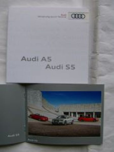 Audi A5 S5 Pressemappe September 2011 +Stick