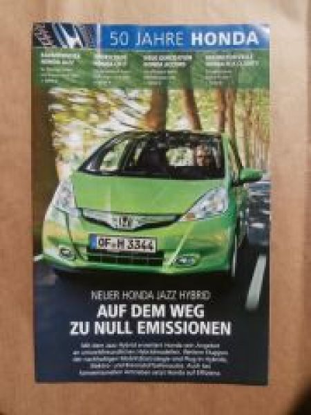 50 Jahre Honda Jazz Hyrid,CR-Z, Accord,FCX Clarity,S800 Cabriole