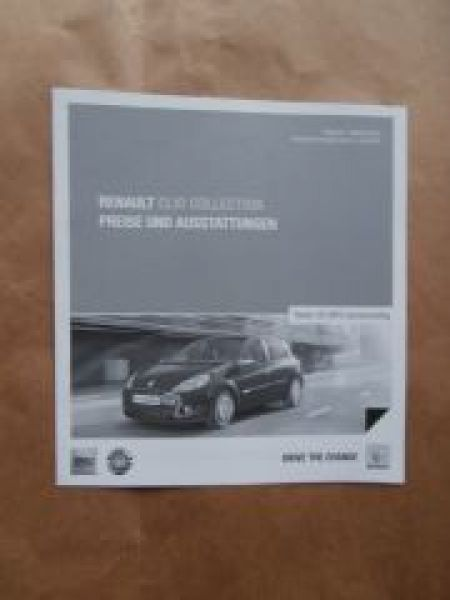 Renault Clio Collection Oktober 2013 NEU
