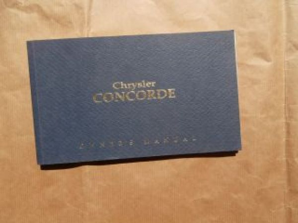 Chrysler Concorde Owner´s Manual 1992 USA Englisch