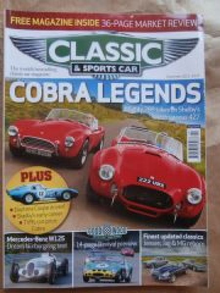 Classic & Sports Car 9/2012 AC Cobra 289 vs. 427,Shelby Daytona