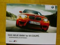 BMW 1er M Coupè E82 September 2010 Prospekt NEU
