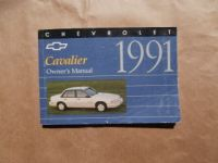 Chevrolet Cavalier Owner´s Manual 1991 USA Englisch